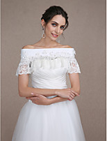 Women's Wrap Capelets Sleeveless Crepe / Lace Ivory Wedding / Party/Evening Bateau  Beading / Lace Clasp