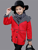 Girl's Casual/Daily Solid Down & Cotton Padded,Cotton Winter Pink / Purple / Red