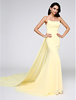 TS Couture® Formal Evening Dress Trumpet / Mermaid Strapless Watteau Train Chiffon with