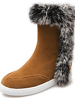 Women's Shoes Boots Spring/Fall/Winter Wedges/Heels/Platform/Fashion Boots/Round Toe Casual Wedge Heel Fur/Zipper