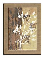 Ручная роспись Цветочные мотивы/ботанический Картины маслом,Modern 1 панель Холст Hang-роспись маслом For Украшение дома