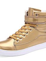Серебристый / Золотистый-Унисекс-На каждый день / Для занятий спортом-Лакированная кожа-На плоской подошве-Удобная обувь-Кеды