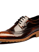 Men's Oxfords Spring/Summer/Fall/Winter Comfort Patent Leather Office & Career /Party & Evening Chunky Heel Black/Brown