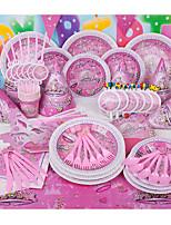 Lots d'Articles pour Table Parti Vaisselle Anniversaire rustique Theme Other Non personnalisé Plastic Rose 6Pièce/Set
