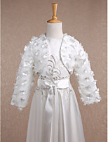 Kids' Wraps Shrugs Long Sleeve Lace Ivory Wedding / Party/Evening Wide collar Lace Open Front