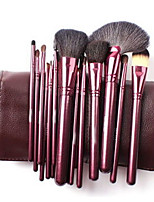 18 Makeup Brushes Set Goat Hair Portable Wood Face Others