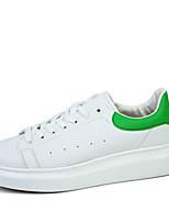 Unisex Sneakers Spring / Fall Comfort PU Casual Flat Heel  Black / Green / White Sneaker