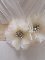 Satijn Huwelijk / Feest/Uitgaan / Dagelijks gebruik Sjerp-Sierstenen / Bloemen / Strass Dames 98½In (250Cm)Sierstenen / Bloemen /