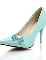 Damen-High Heels-Büro / Lässig-Lackleder-Stöckelabsatz-Absätze / Spitzschuh-Schwarz / Blau / Rosa / Beige