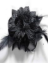 Korean Flower Girl's Flower Feather FabricHair Clip