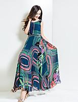 BORME® Femme Col Arrondi Sans Manches Maxi Robes-Y028A