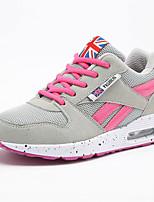 Da donna-Sneakers-Casual-Comoda-Zeppa-Tulle-Nero / Grigio