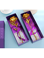 24K Gold Rose On Valentine'S Day Gift Box With Large 25cm