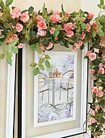 35Head/Branch High Fidelity Rose Flower Rattan Home Decoration Artificial Flower
