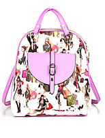 Women Outdoor / Shopping PU Zipper Backpack