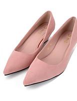 Черный / Розовый / Серый-Женский-На каждый день-Полиуретан-На танкетке-На танкетке / С острым носком-Обувь на каблуках