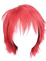 Cosplay Wigs Assassination Classroom Cosplay Red Short Anime Cosplay Wigs 20 CM Synthetic Fiber Male