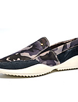 Men's Flats Spring / Fall Round Toe PU Casual Flat Heel Others Green / Gray / Royal Blue Others