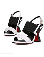 Women's Sandals Summer Sandals Leather Outdoor / Casual Chunky Heel Others Blue / Red / White Others