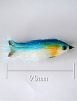1 pcs Soft Jerkbaits Blue 5 g/1/6 oz. Ounce,90 mm/3-1/2