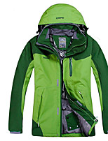 Hiking Tops Men's Waterproof / Breathable / Insulated / Rain-Proof / Wearable / Thermal / Warm Spring Velvet Green / Red / Dark KhakiS /