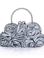 L.WEST Women's Handmade Flower Fold Evening Bag