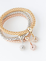Charm Bracelets 1set,Fashionable Circle Golden / Silver Alloy Jewelry Gifts