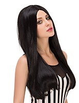 Fashion Women Straight Black Color Cosplay Heat Resistant Wedding Party Synthetic Wig