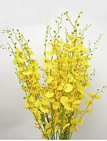 1 1 Филиал Полиэстер Орхидеи Букеты на стол Искусственные Цветы 98cm