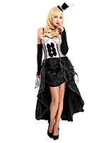 Costumes Vampires Halloween Black / Red & Black Solid / Lace Spandex / Terylene Skirt / Gloves / Necklace / Hat