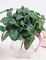 1 1 Une succursale Polyester / Plastique Orchidées / Plantes Fleur de Table Fleurs artificielles 9.8inch/25cm