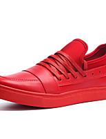 Черный / Красный / Белый-Мужской-На каждый день-Полиуретан-На плоской подошве-Оригинальная обувь-Кеды