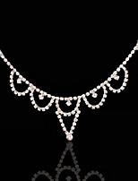 Mujer Diamantes Sintéticos / Aleación Celada-Boda / Ocasión especial Cadena para la Cabeza 1 Pieza Plata