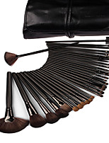 32 Makeup Brushes Set Horse Hair Professional / Portable Wood Handle Face/Eye/Lip