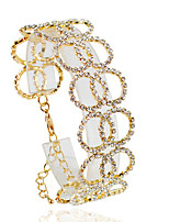 Chain Bracelets 1pc,Fashionable Circle Golden / Silver Alloy Jewelry Gifts