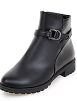 Women's Boots Fall / Winter Fashion Boots / Round Toe Office & Career / Dress / Casual Platform Buckle / Zipper