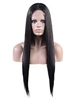 10-28 Inch Peruvian Virgin Human Hair Natural Color Natural Straight Frontal Lace Wig