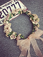 Korean Beautiful Rose Flower Wreaths Headband for Lady Wedding Party Holiday Hair Jewelry