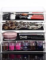 Acrylic Make Up Organizer 4 Drawers Storage Box Clear Plastic Cosmetic Storage Box Organizers
