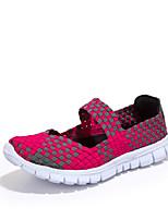 Women's Sandals Spring / Summer Sandals Tulle Outdoor / Casual Flat Heel Slip-on Purple / Red / Gray / Orange