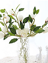 3Head/Branch High Simulation Mangnolia Artificial Flower
