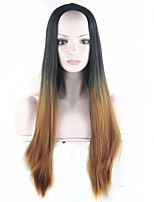 pelucas sintéticas peluca marrón ombre negro- para las mujeres 28