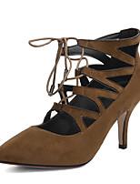 Women's Heels Heels / Ankle Strap / Pointed Toe Fleece Party & Evening / Dress / Casual Stiletto Heel