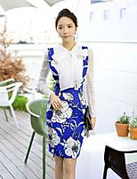DABUWAWA® Women's Above Knee Printing Slim High Waist Skirt