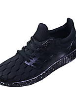 Men's Sneakers Spring / Fall Round Toe PU Athletic Flat Heel Others / Lace-up Black Sneaker
