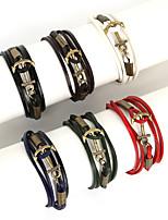 Bracciali con ciondoli / Dell'involucro del braccialetto / Bracciali in pelle 1 pezzo,Alla moda LineareBlu marina / Nero / Bianco / Rosso