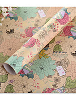 South Korea Flower Pattern Wrapping Paper Gift Book Wrapping Paper