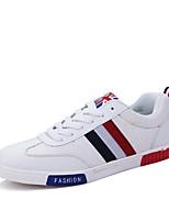 Hombre-Tacón Plano-Confort-Zapatillas de deporte-Exterior / Casual / Deporte-Microfibra-Negro / Azul / Blanco / Negro y Rojo