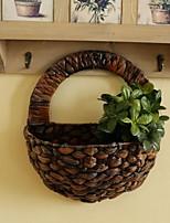 Corn Bran Exquisite Hand-Woven Flower Vase Flower Arrangement Vase For Artificial Flowers Home Decoration (Large Size)