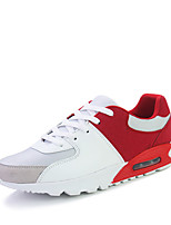 Herren-Sneaker-Outddor / Lässig / Sportlich-Leder / Wildleder-Flacher Absatz-Komfort-Schwarz / Schwarz und Gold / Schwarz und Weiss